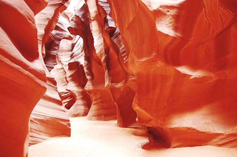 Eroded Rocks At Antelope Canyon