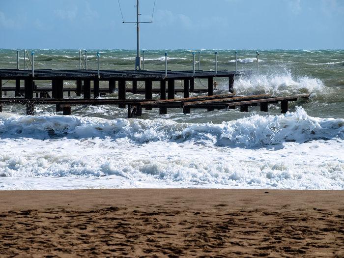 Bay Beach Beauty In Nature Coast Coastline Day Horizon Over Water Motion Nature Ocean Outdoors Sand Scenics Sea Sky Splashing W Water Wave Wave