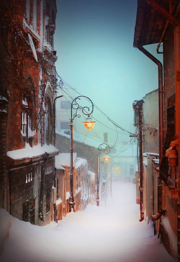 Magical winter on the beautiful Street of the Wind in the Old city of Constanta, Romania. Amazing Architecture Architecture Beautiful Building Exterior Built Structure City City Cold Temperature Fairtale Illuminated Mood Nature Night No People Old Buildings Outdoors Romania Scenics Sky Snow Snow Fall Snow Flakes Snowing Winter