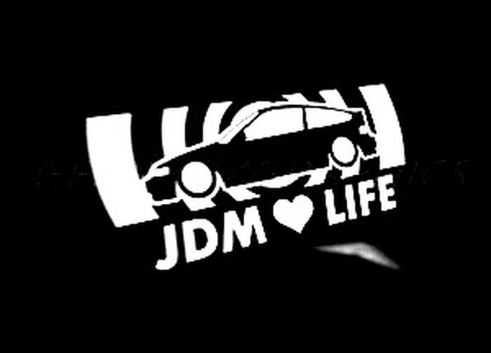 Novo autocolante para o meu amor Crx❤ Meu Amor Jdmlifestyle Stickers On Cars