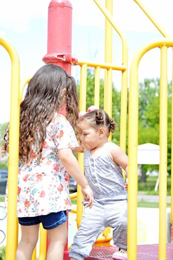 Family Childhood Memories Baby Kids Life 2018 Sisters Park Females Women Offspring Two People Family Togetherness Day Happiness Smiling Playground