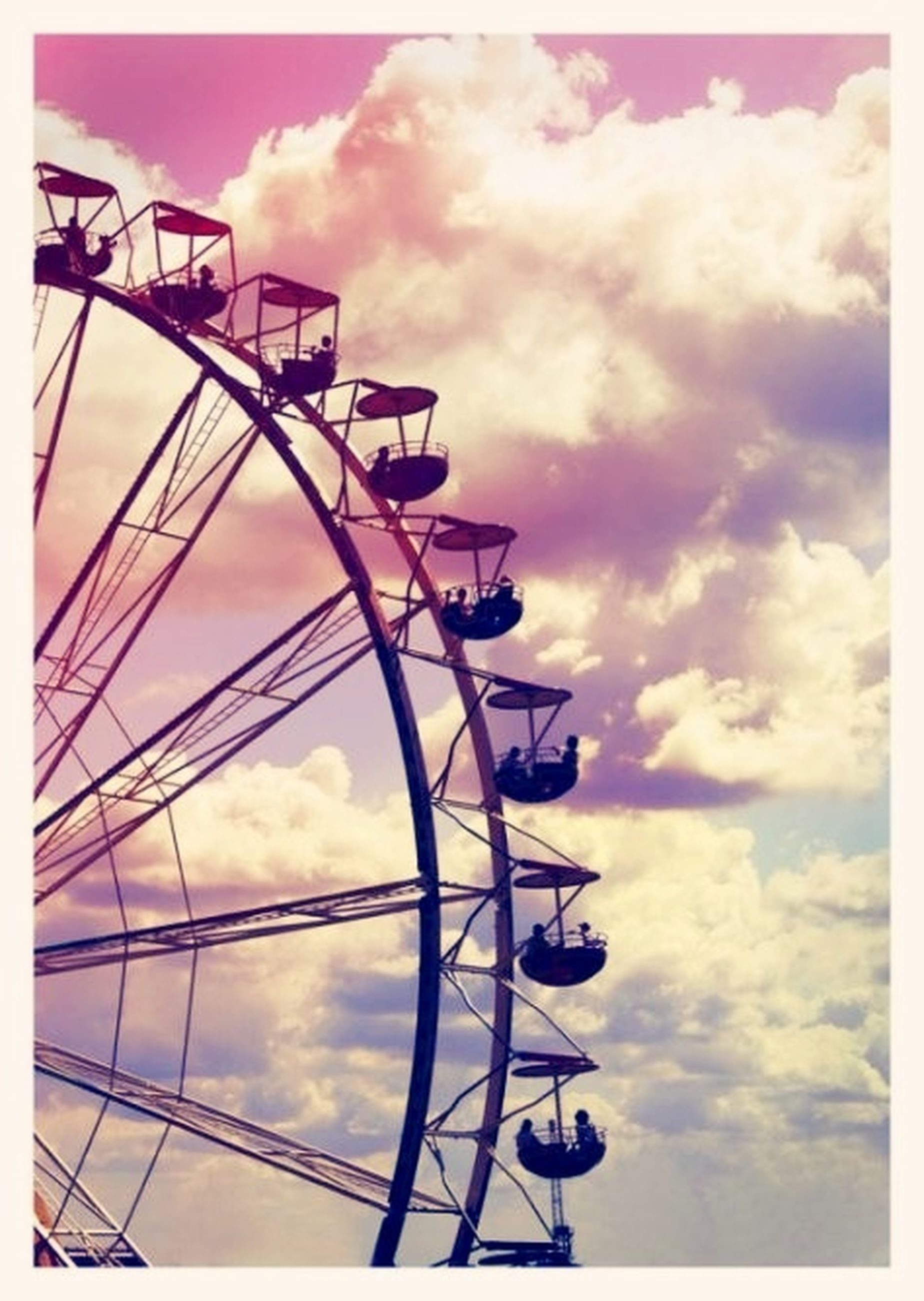 sky, cloud - sky, low angle view, outdoors, arts culture and entertainment, amusement park, no people, day, nature, close-up