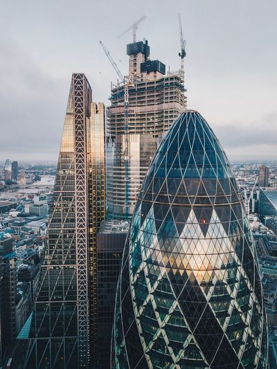 3's a crowd Bishopsgate Cheesegrater Building Skyscrapers In The Clouds Skyscraper Aerial Photography City Of London Gherkin Building Gherkin Tower Photography By Me Drone  Drone View LONDON❤ Djiglobal Football Dronephotography DJI Mavic Pro London Life EyeEmNewHere