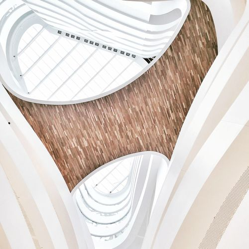 The LINK Contrast Materiality Timber Curves Atrium Vccc Silverthomashanley Architecture Melbourne