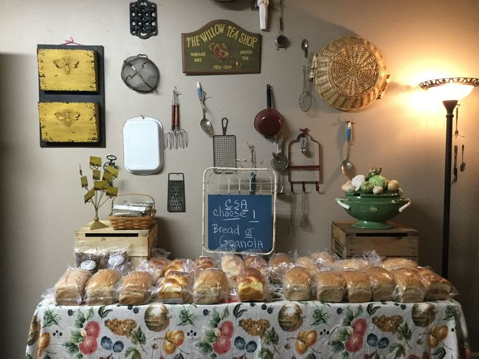 Indoors  Food And Drink Food Freshness No People Table Baked Retail  Choice Variation Still Life Arrangement Illuminated Large Group Of Objects Store Bread Fresh Baked Bread Small Market Local Favorite Small Town America East Coast