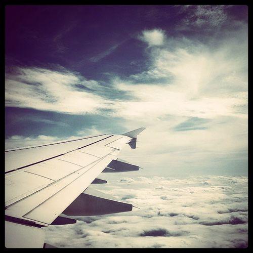 Flightplan OverTheClouds Clouds Sun Backhome Lufthansa Fensterplatz