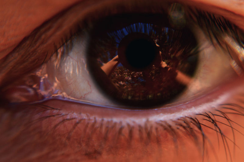 Close-up Detail Extreme Close-up Eyeball Eyelash Eyesight Human Eye Human Face Iris - Eye Macro Part Of Portrait Selective Focus Sensory Perception Staring Selfie ✌ Self Portrait Selfportrait Cherryblossom Reflection The Portraitist - 2016 EyeEm Awards Myfirstselfie