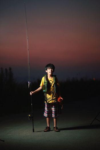 Sunset キッズ ストロボ Portrait 夕陽 Fishing