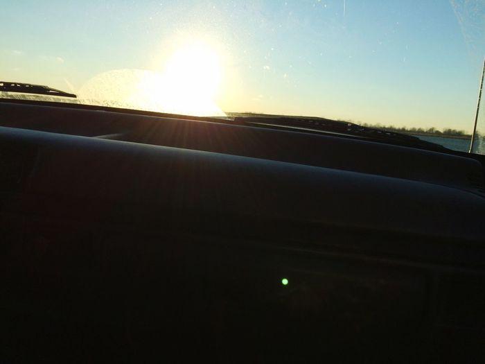 ☺️🌞 Sun Sunset Window Sky Transportation Car Mode Of Transport