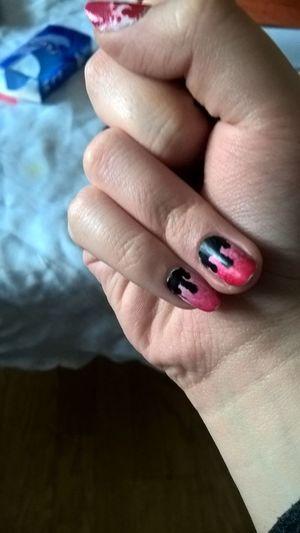 Nail Art Beauty Perfect Red Beautiful Love ♥ Nail Art Design Style Selfmade Nails <3