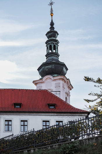 Traditional building against sky in prague