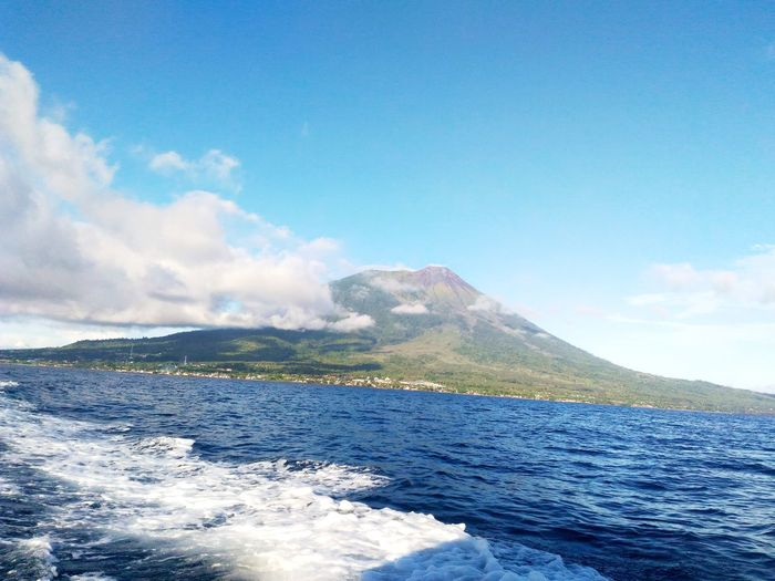 GamalamaTernate Gamalama Mountain Molucas Mountai View Mountains And Sky Sea And Sky Volcano Volcano Eruption