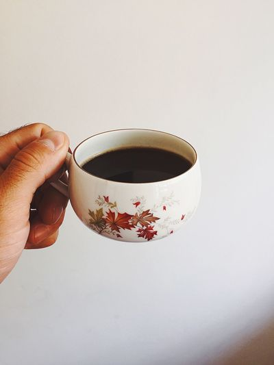 Drink Food And Drink Refreshment Hand Holding Human Body Part Cup Mug Human Hand Indoors  One Person Coffee Coffee - Drink Freshness Coffee Cup Hot Drink Lifestyles Real People Body Part Finger