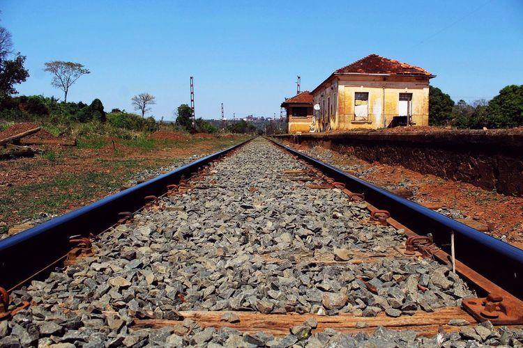 Canon Brotas, SP - Brasil Brasil Railroad Track Rail Transportation Track Architecture Transportation Sky Nature