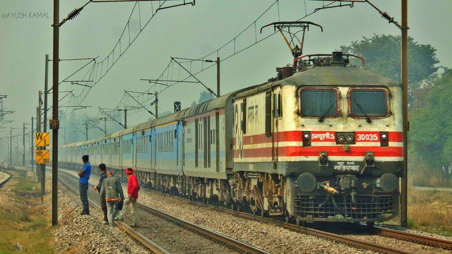 "The Premium Class Train of INDIA, ""Shatabdi Express"". Indian Railways Shatabdiexpress First Eyeem Photo"