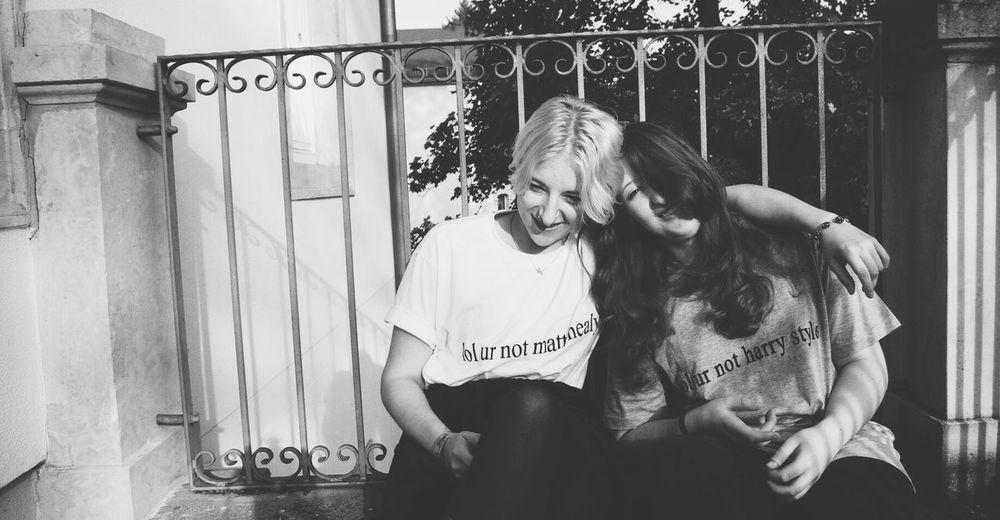 My Best Photo 2014 Blackandwhite Monochrome sisterlove