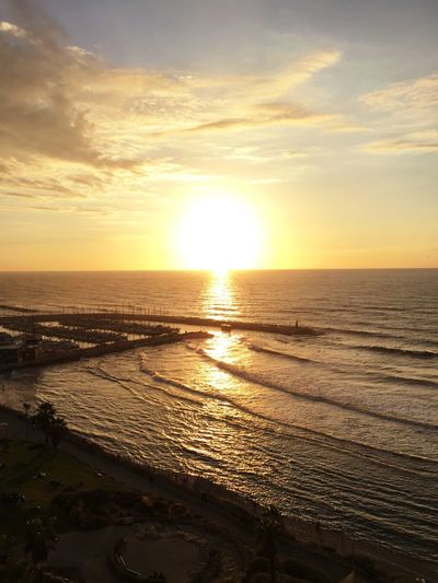 Sunset in Tel-Aviv Sunset Sky Sea Sea And Sky