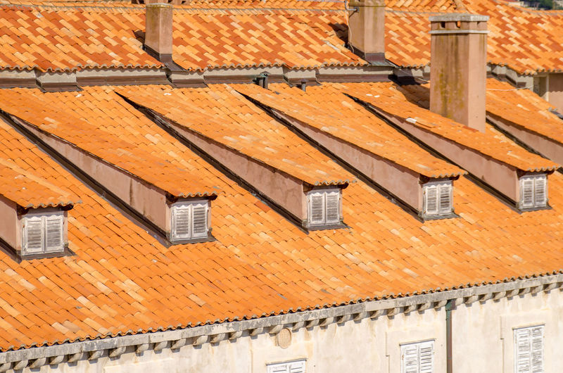Tiled Roof Of Building
