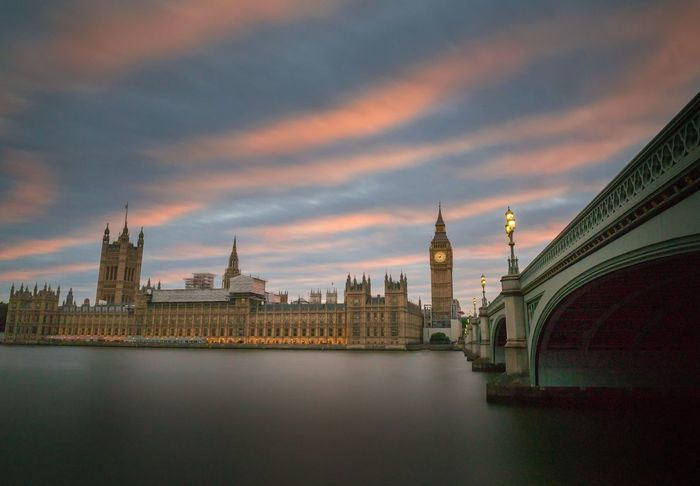 The sun sets on another day of parliamentary shenanigans Travel Destinations Architecture Cityscape City Clock Tower River Government Politics And Government Cloud - Sky Urban Skyline Bridge - Man Made Structure Sunset No People Outdoors Sky Water Day London Liveforthestory Photo24 Canon5dmarkiv Contrast And Lights @canonuk Building Exterior EyeEm Selects