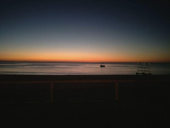 Water Sea Sunset Beach Clear Sky Oil Pump Sky Horizon Over Water