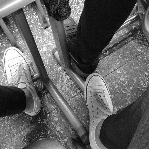 With Polaroid Snap 내가찍음 Polaroid Polaroidsnap Allstar Sneakers AtSchool SchoolUniform Unprocessed Shoes Black Blackandwhite 폴라로이드 폴라로이드스냅 무보정 스니커즈 학교에서 흑백 교복 신발