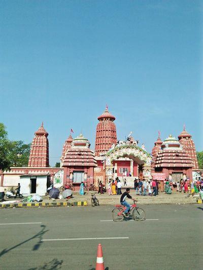 City Sky Road Cityscape Architecture Outdoors People Day Temple Roadsidephotography Culture Of India Odishatourism Odisha India Odisha Art