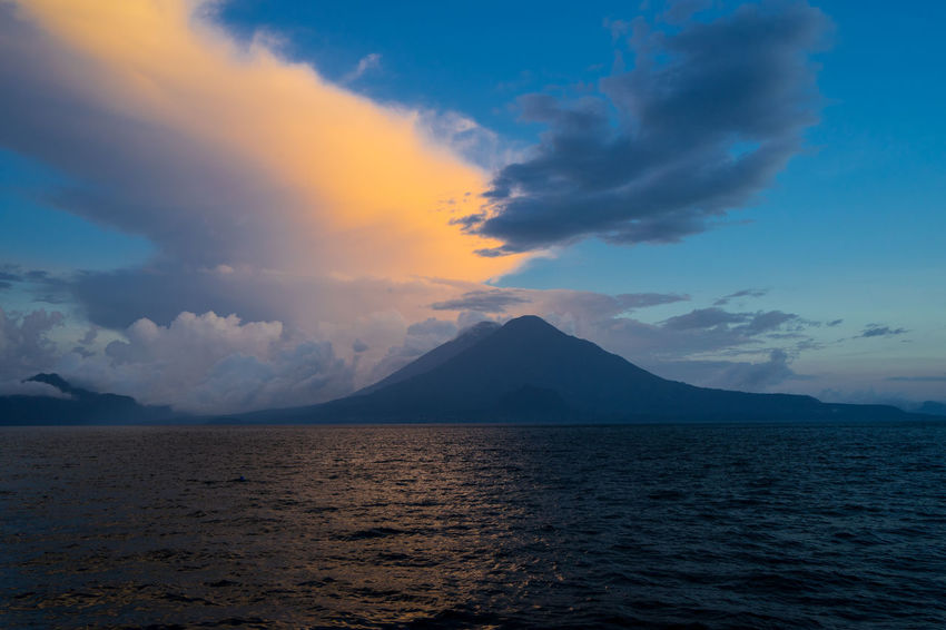Atitlan Lake Guatemala Landscape_Collection Atitlan Beauty In Nature Cloud - Sky Guate Lake Mountain Nature No People Panajachel  Scenics Sea Sky Sunset Tranquil Scene Tranquility Volcanic Landscape Volcano Vulcano Water Perspectives On Nature