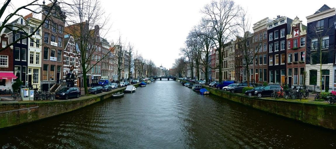 Canal along buildings