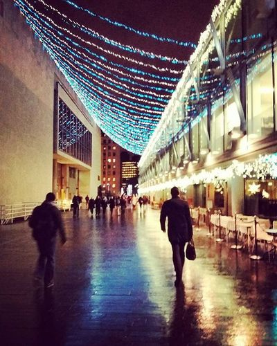Lights, Camera, Action. Southbankcentre Southbank Lights Rain Londonatnight Londoncity Airheads Photooftheday Aftergym