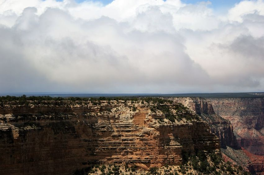 Colors of Grand Canyon Arizona Landscape Clouds Over Grand Canyon Grand Canyon Grand Canyon National Park Grand Canyon Weather Grand Canyon, South Rim Rock Formation Beauty In Nature Clouds Over Mountain Clouds Over Mountains Day Geological Formation Geological Landscape Geology Rocks Geologyporn Nature No People Outdoors