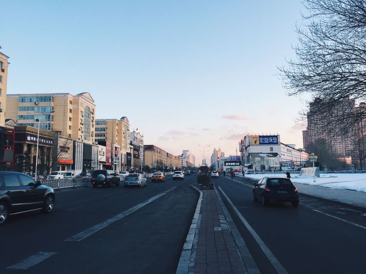 04.03.15 Car Transportation Land Vehicle Building Exterior Street Road Mode Of Transport City Clear Sky Sky The Way Forward Urbanexploration Urban Harbin China 哈尔滨 中国 EyeEm Best Shots EyeEm Best Edits
