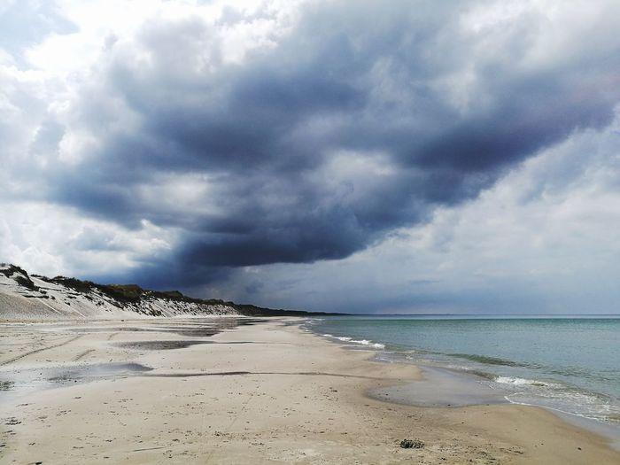 Looming clouds Sand Dune Water Wave Low Tide Sea Beach Panoramic Storm Cloud Cumulus Cloud Meteorology Beach Holiday Coastline The Great Outdoors - 2019 EyeEm Awards My Best Photo