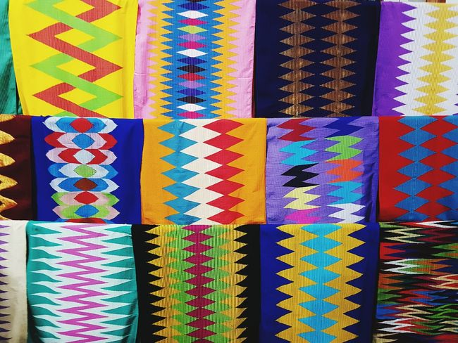 Beautifully Organized Multi Colored Variation Choice Pattern Arrangement No People Indoors  Close-up Day Fanned Out Songket Kain Colours And Patterns Colour Of Life Culture
