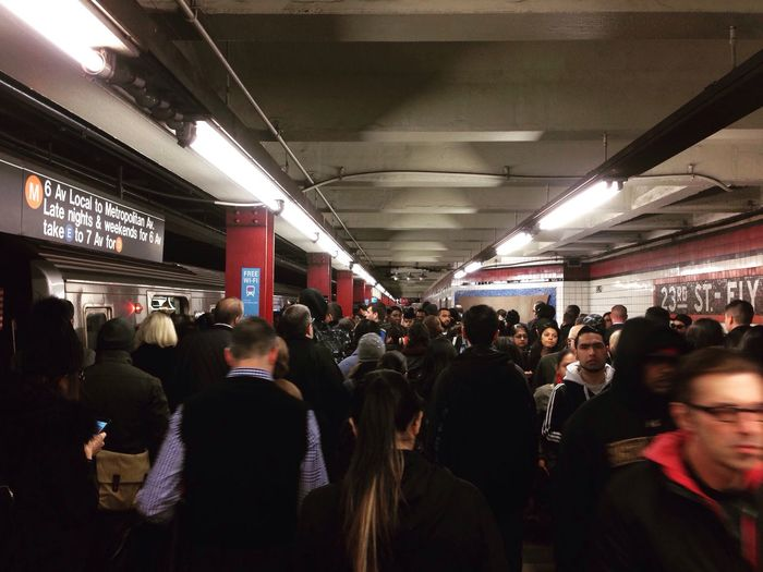 Subway Hello World Crowded Rush Hour New York New York City Queens NYC Photography Etrain Manhattan Bound New Yorkers work day