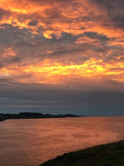 Incendie No People Sunset Sky Beauty In Nature Scenics - Nature Orange Color Cloud - Sky No People Sea Tranquil Scene Nature