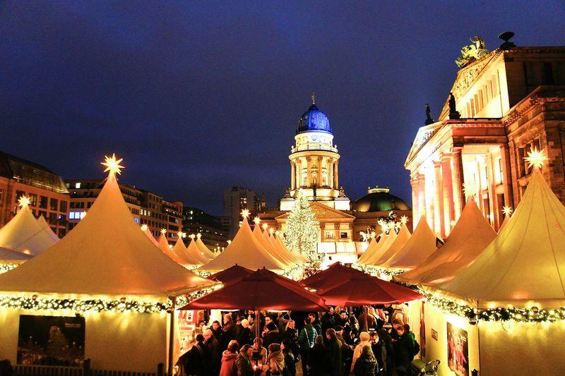 Most beautiful Christmas market in Berlin Berlin Christmas Christmas Market Gandarmen Markt, Berlin Illuminated Light Weinachtsmarkt  Winter