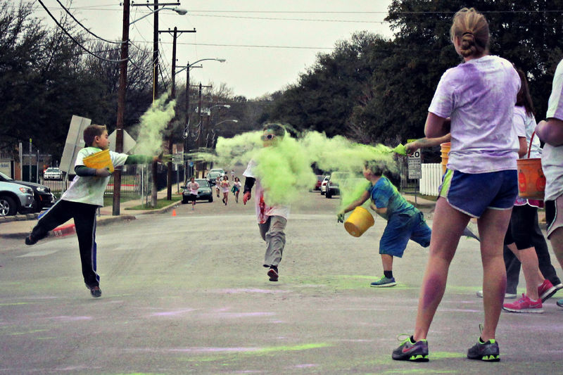 5k 5krun Color Dash Color Run Fort Worth Fun Run Fundraiser Photography In Motion Race Running Saint Andrew Catholic School Texas