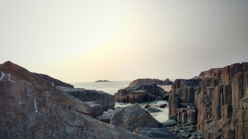 NoEdits  Beach Rainbow Rock Island Eve Evening Beachrocks Beachrock Beach Rocks Beach Rocks Sea Sea Sea View Sea And Sky Seascape Seascape Photography Islands Rainbow Colors Rainbow Sky India Udupi Malpebeach Stmarysisland Beauty In Nature EyeEm Best Shots - Nature Finding New Frontiers Miles Away