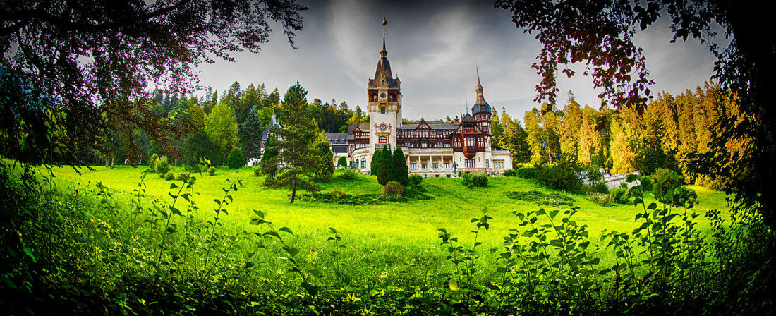 SINAIA Architecture Beauty In Nature Building Building Exterior Built Structure Day Grass Green Color Growth Land Nature No People Outdoors Place Of Worship Plant Religion Scenics - Nature Sky Travel Destinations Tree