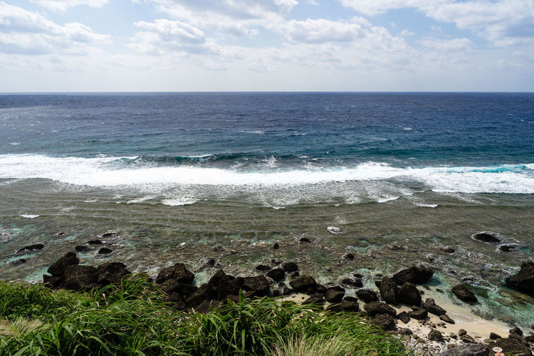 Waves at Batanes Island ASIA Batanes Islands Philippines Batanes Beach Beauty In Nature Cloud - Sky Day Horizon Horizon Over Water Land Motion Nature No People Outdoors Rock Rock - Object Scenics - Nature Sea Sky Tranquil Scene Tranquility Travel Destinations Water Wave