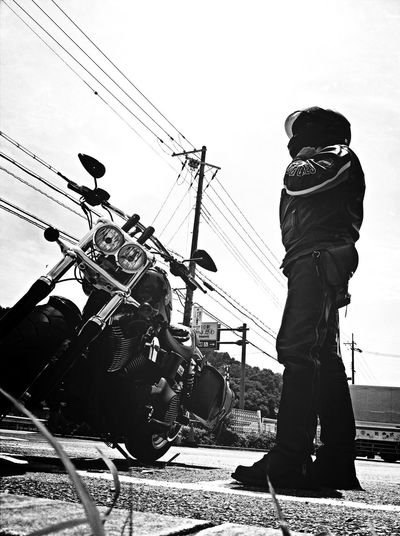 on the road Bw_collection. Streetphoto_bw Motorcycle Monochrome