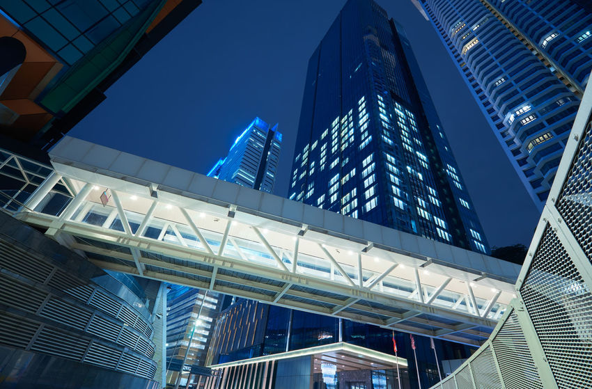 Built Structure Architecture Building Exterior City Office Building Exterior Modern Low Angle View Building Tall - High Office Skyscraper Sky Blue Glass - Material No People Nature Tower Day Reflection Clear Sky Financial District