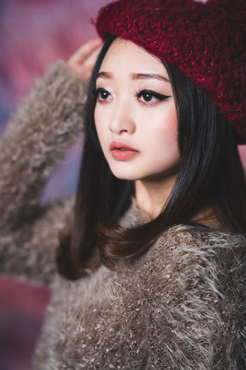 Merry Christmas EYEEM :) Lovely model in studio Xmas concept :) Winter Christmas Young Adult Young Women Warm Clothing Portrait Portrait Of A Woman Women Leisure Activity Beautiful Woman Lifestyles Real People Beauty Adult Fur Hair Hairstyle Studio Shot Studio Photography