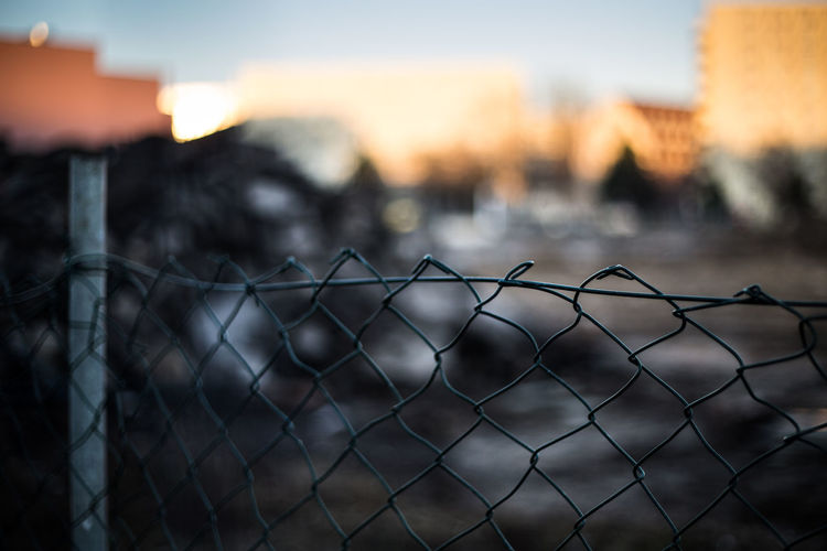 waste in berlin City Close-up Dreck Fence Focus On Foreground Metal No People Protection Sky Sunset Waste