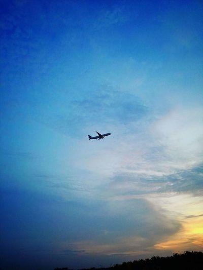 Sepang Selangor Klia Maghrib Senja  Cloud - Sky Awan Plane Kapal Terbang