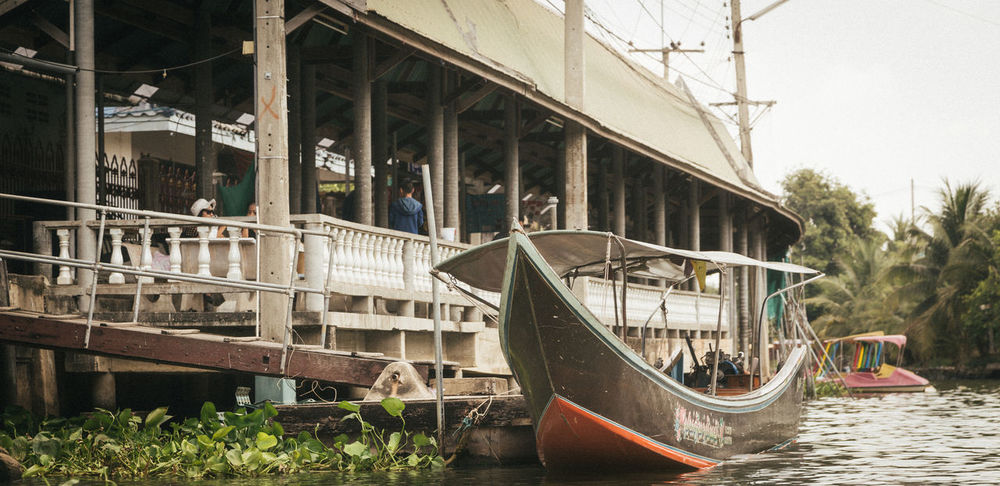 Harbor in Samut Sakhon, Thailand Architecture ASIA Asian  Boat Building Exterior Built Structure Canon Cruise Cruise Ship Day Harbor Moored Nature Nautical Vessel No People Non-urban Scene Outdoors River Samutsakorn Streetart Streetphotography Thai Thailand Transportation Water