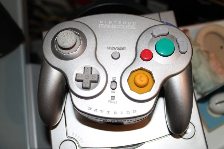 Close-up Controller GAMECUBE Indoors  Nintendo No People Silver  Wavebird Wireless Wireless Technology