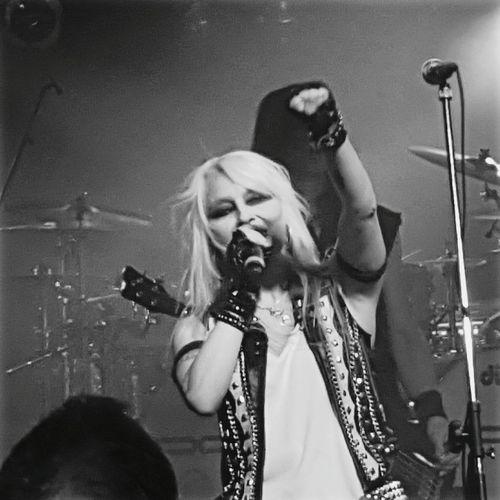 Doro Doro Pesch Warlock  Live Gig Heavy Metal The Tivoli Buckley Wales Black & White