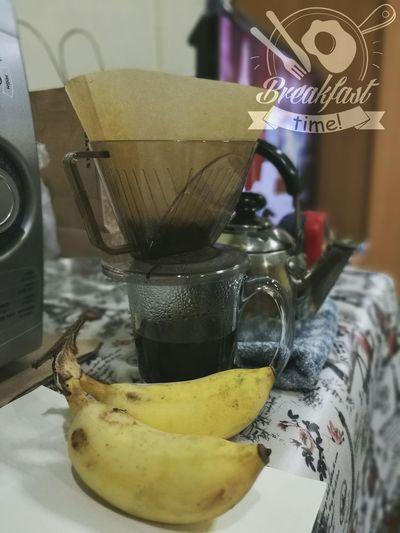 Coffee ☕ Bananas Morning Coffee Morning Breakfast