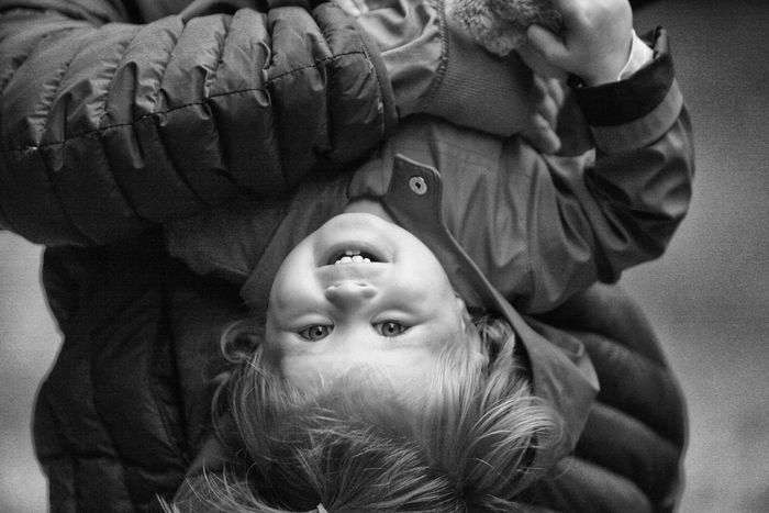 Adult Baby Babyhood Bonding Child Childhood Close-up Cute Day Family Family With One Child Father Headshot Human Body Part Lifestyles Love Men Outdoors People Portrait Real People Togetherness Warm Clothing